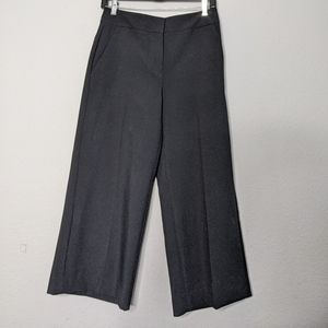 NWT Ann Taylor Black The Wide Leg Crop Pants 2P